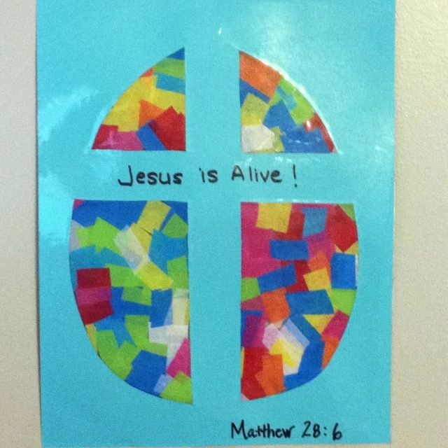 Easter Stained Glass Window Craft