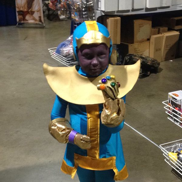 Kid Star-Lord and Thanos Could Rule the Galaxy with Cuteness [Cosplay]