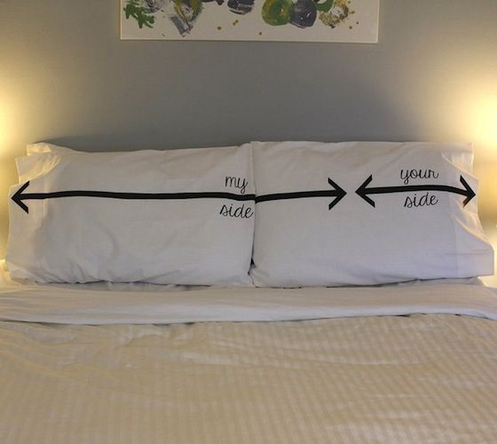 Bettwäsche Side His Side my side your side pillow pillows pillow cases and spaces