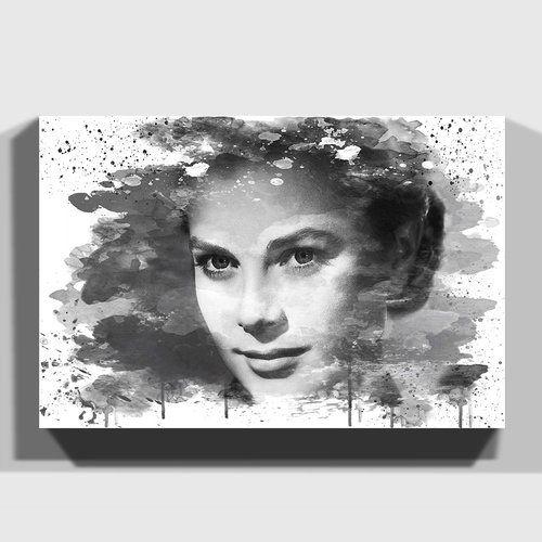 Canvas Grace Kelly Art print POSTER
