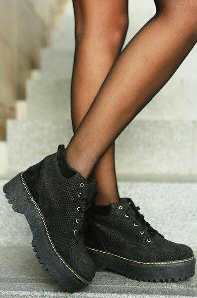 Calzado Mujer Botas Moda Militar Plataforma Interna Elévate