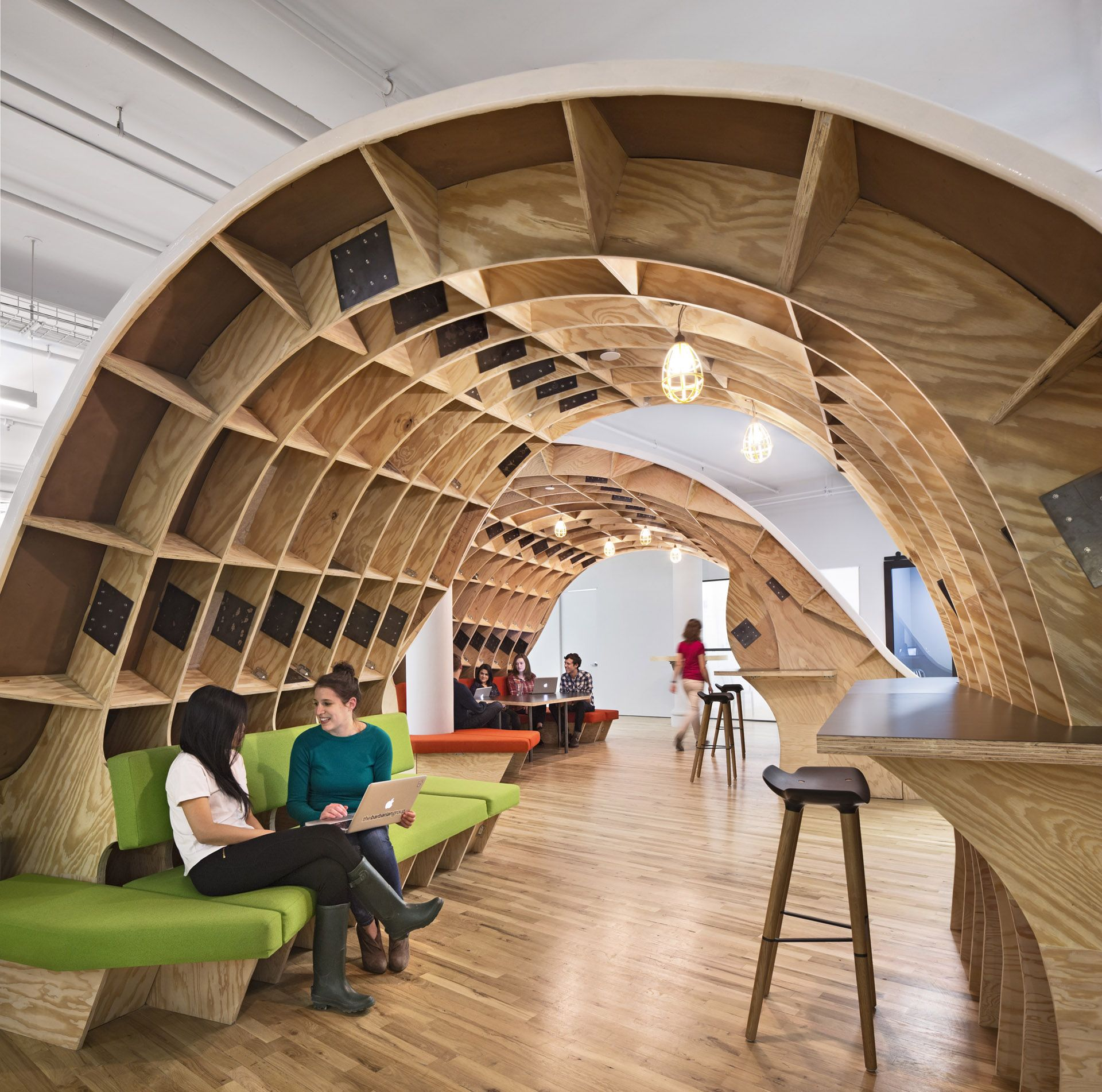 the office super desk. Clive Wilkinson Architects | The Barbarian Group Office Super Desk G