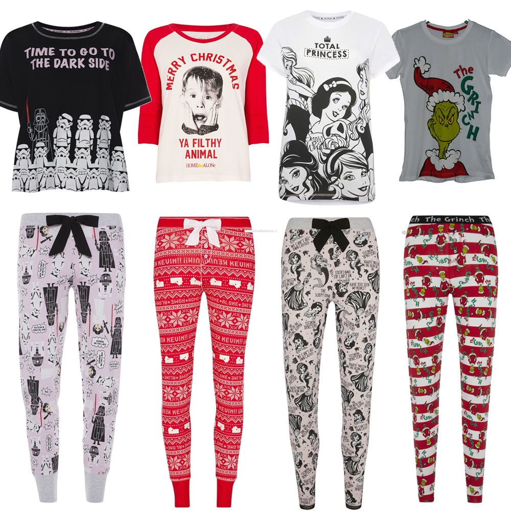 complete in specifications durable modeling picked up Details about Ladies PJ set Womens Licensed Pyjamas tshirt ...