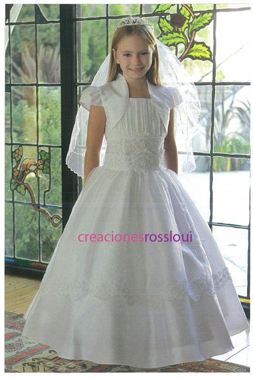 Modelos de vestidos de primera comunion