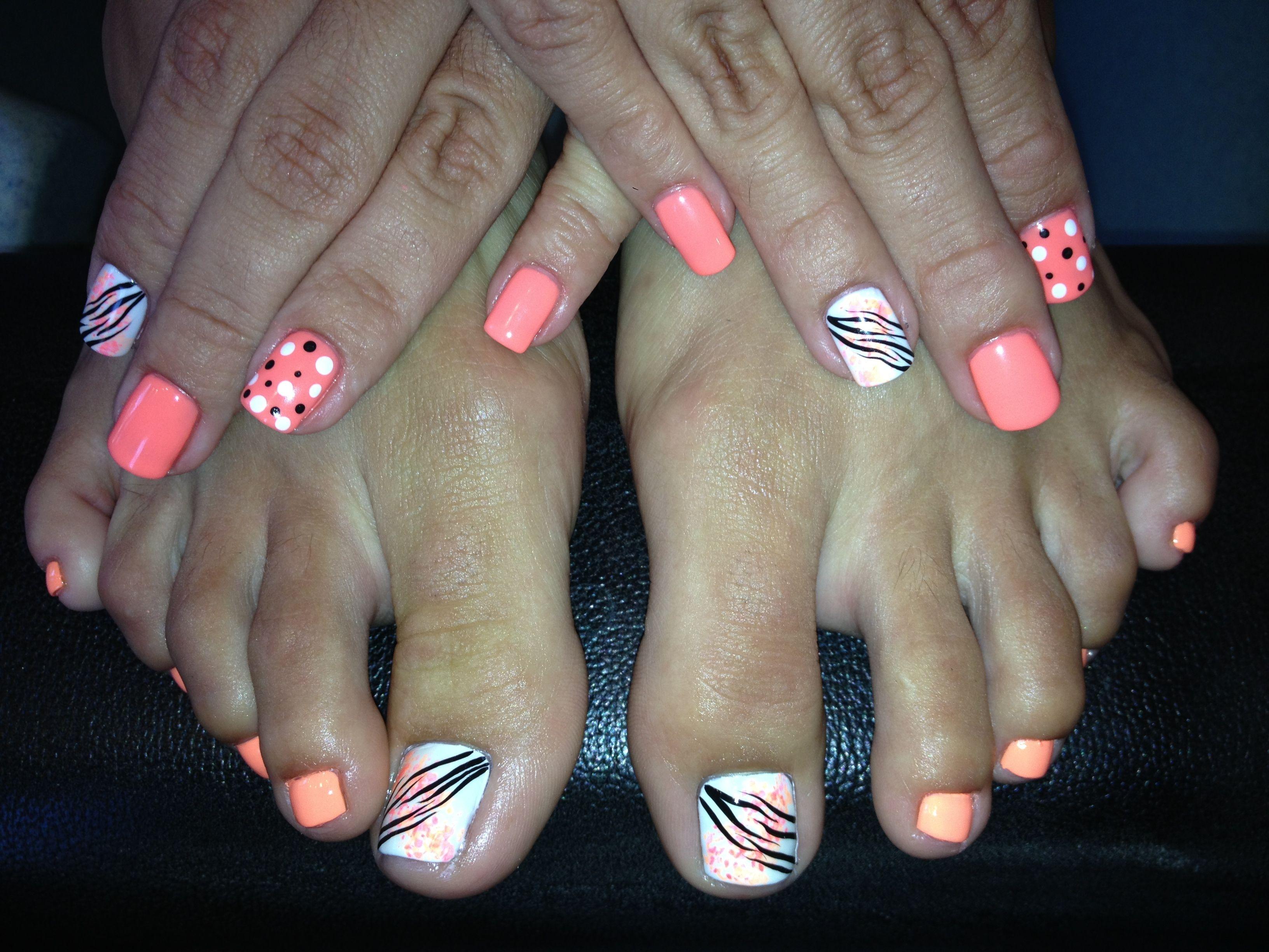 Matching Nails Toes By Michelle Nails Pinterest Nail Nail