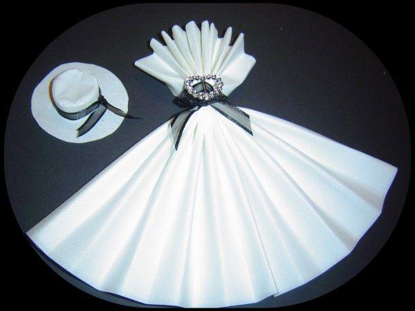de serviette serviettes de mariage pliage de serviettes table dress