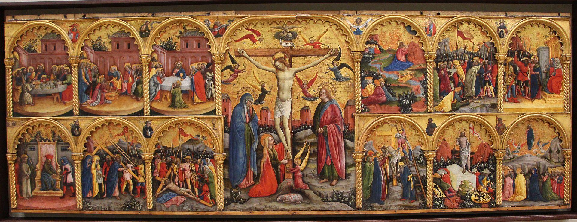 412. Antonio Vivarini - Polittico della passione di Cristo - 1430-35 - Venezia, Ca' d'oro