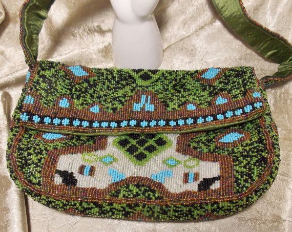 Vintage Beaded Y & S Original Handbag