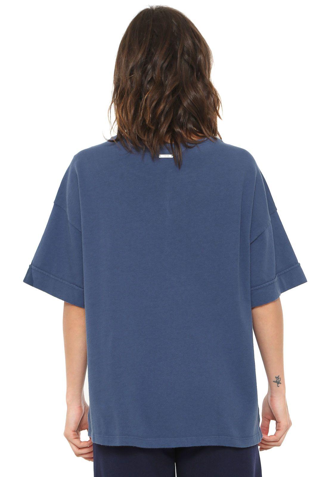 236c9d808 Camiseta Forum Estampada Azul-marinho em 2019