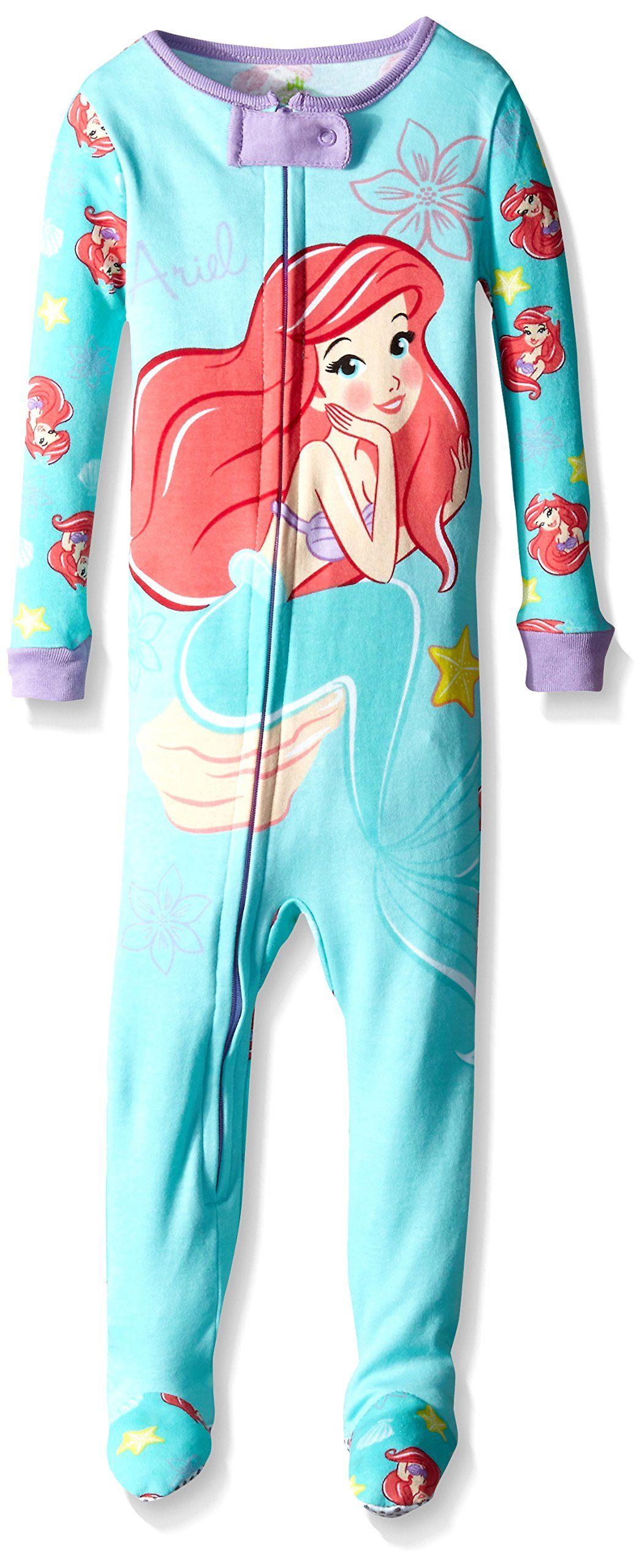 ... outlet online b7fc5 7ac8a Disney Baby-Girls Infant Ariel One Piece  Blanket Sleeper Sleep 572d10dd9