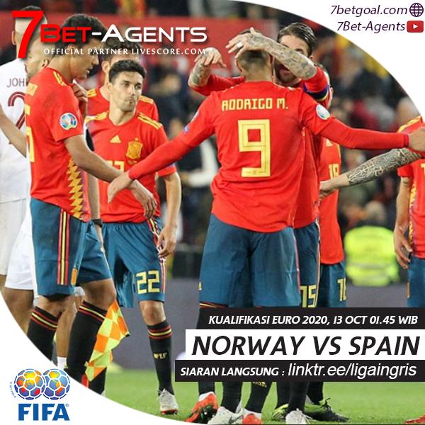 Live Streaming Kualifikasi EURO 2020 Norwegia vs Spanyol