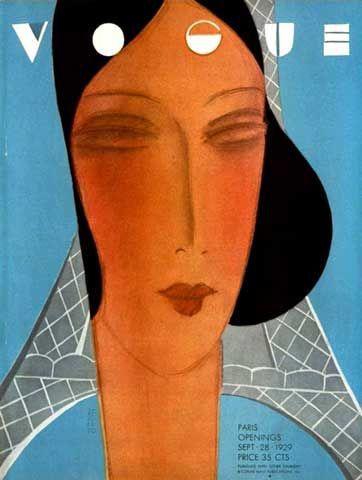 1929. Art Deco Vogue cover