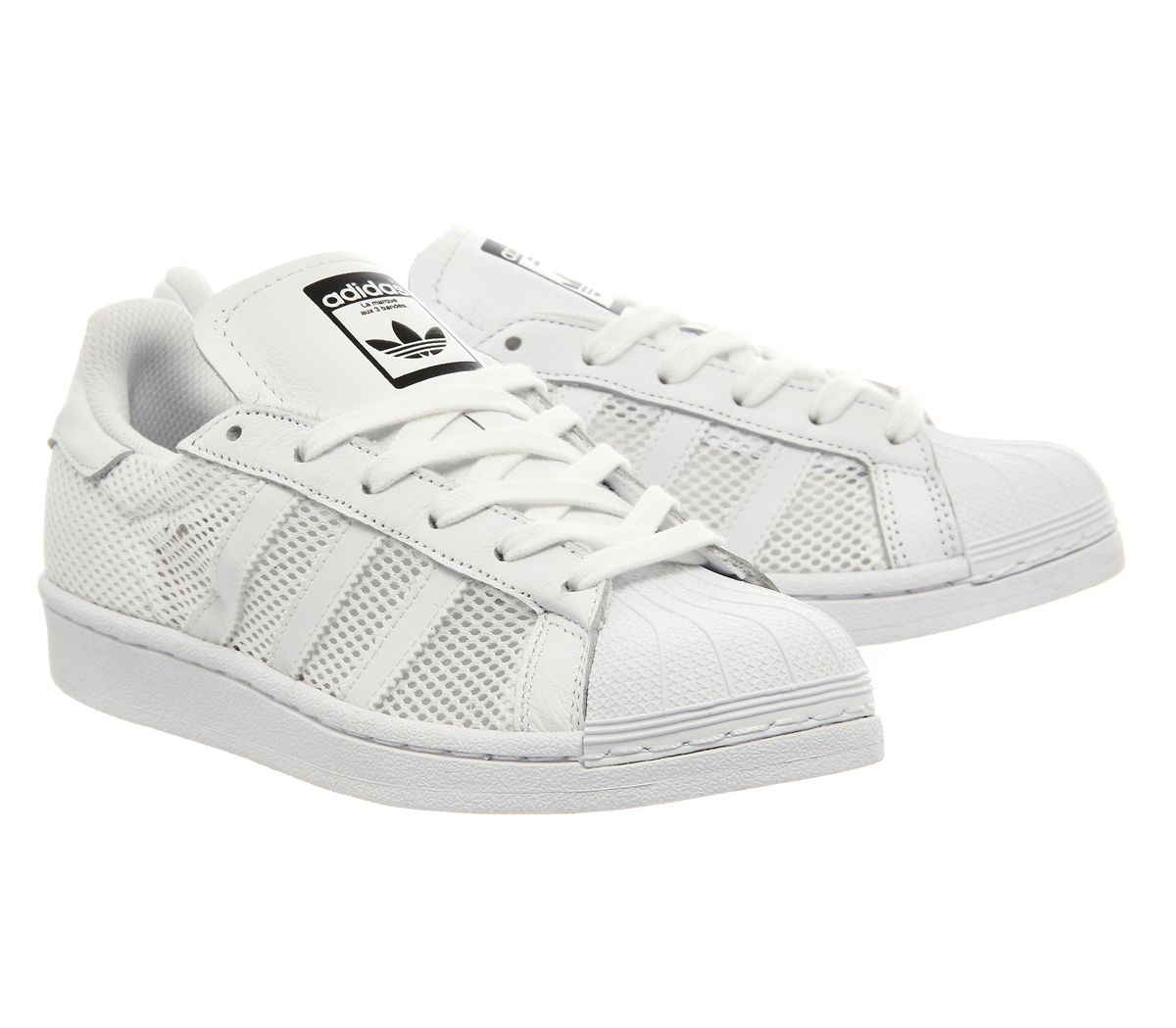 adidas superstar 1 white mono mesh exclusive