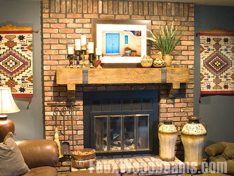 I like the hardware and rawness to this mantle. Not diggin' the rest...