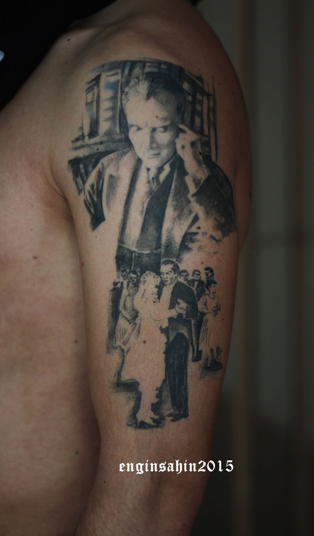 enginsahin atat rk d vmesi realistic tattoo d vme