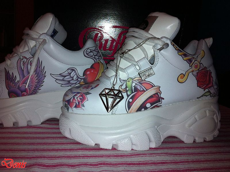 Buffalo platform white tattoo Buffalo Shoes, Barbie Shoes, Unique Shoes,  Awesome Shoes, 8ee8d04810
