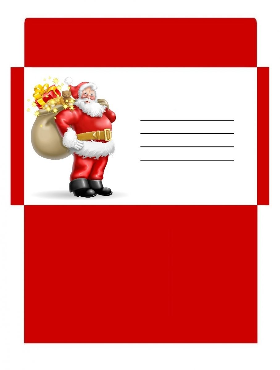 Enveloppe no l personnalis e et color e imprimer deco - Image pere noel a imprimer ...