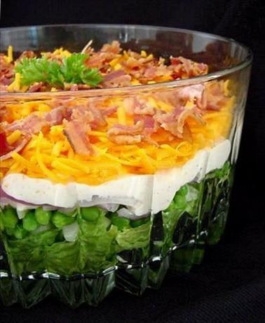 Yummy 7 Layer Salad Recipe 7 Layer Salad Salad Recipes Soup Salad