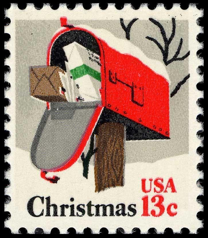 13 cent Christmas stamp Postage stamps, Vintage stamps