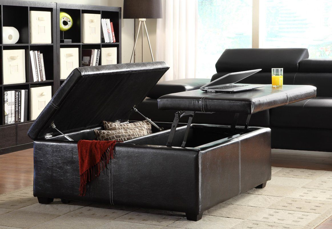 Marland Storage Coffee Table Storage Ottoman Coffee Table