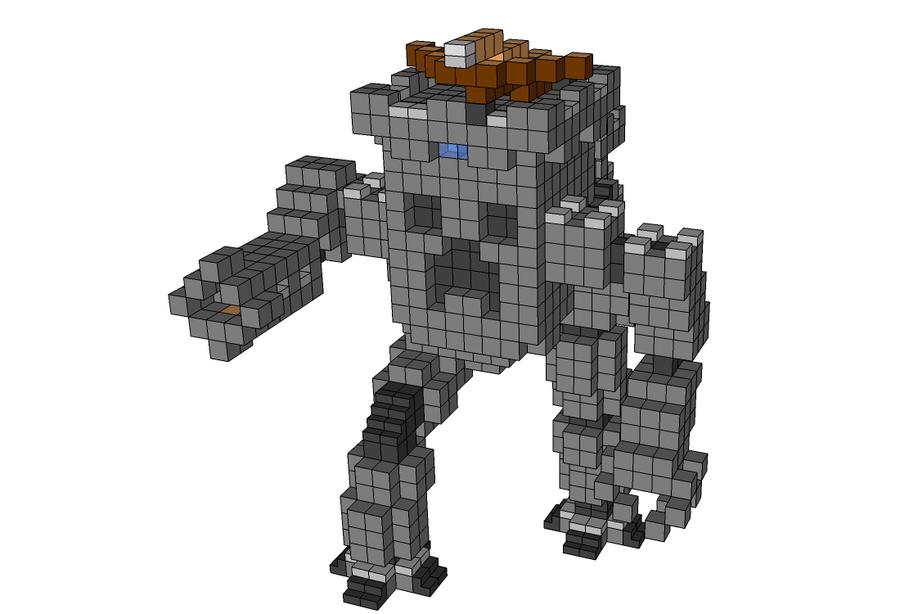 отличают робот в майнкрафте постройка это род маленьких