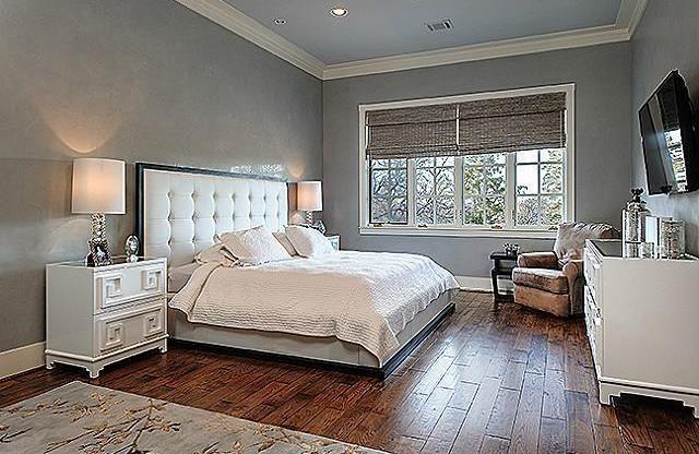 Traditional Master Bedroom With Crown Molding U0026amp; Hardwood .