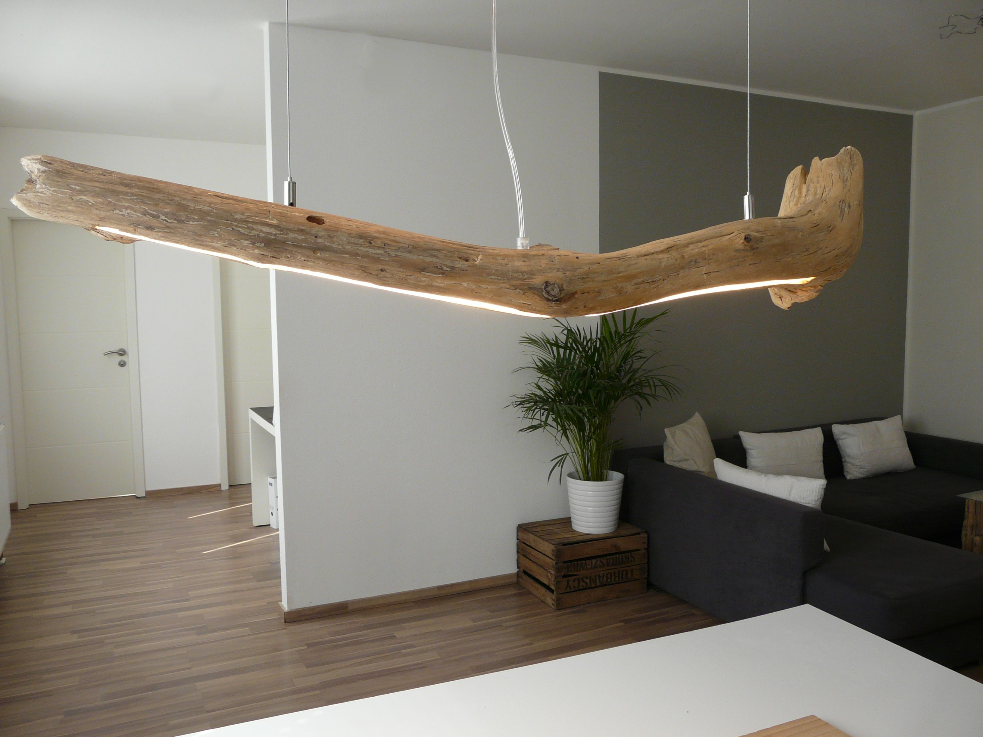 Treibholz Lampen mit modernster Led Technik   Leuchten aus Holz ...