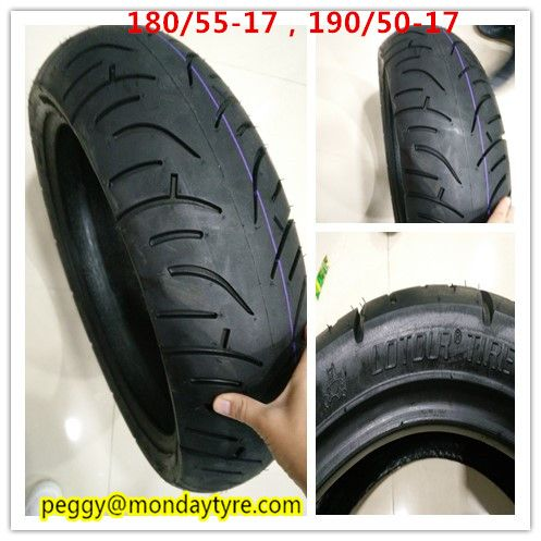 Lotour Motorcycle Tubeless Tire 180 55 17 Motorcycle Tires Tubeless Tyre Tire