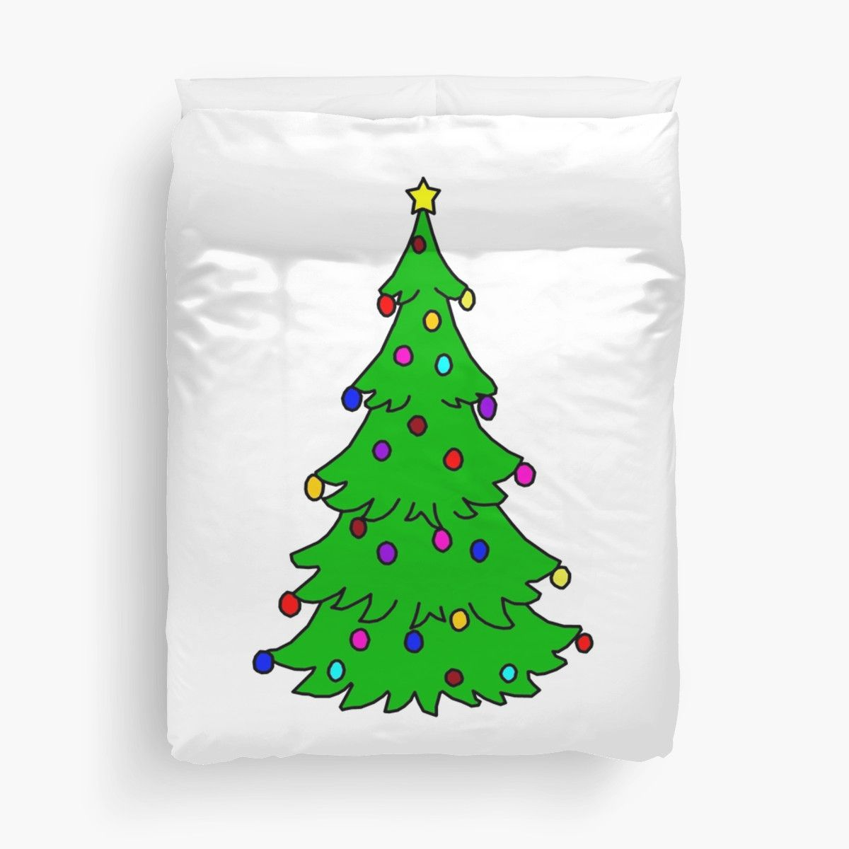 This Christmas tree design duvet cover will brighten up any room and ...