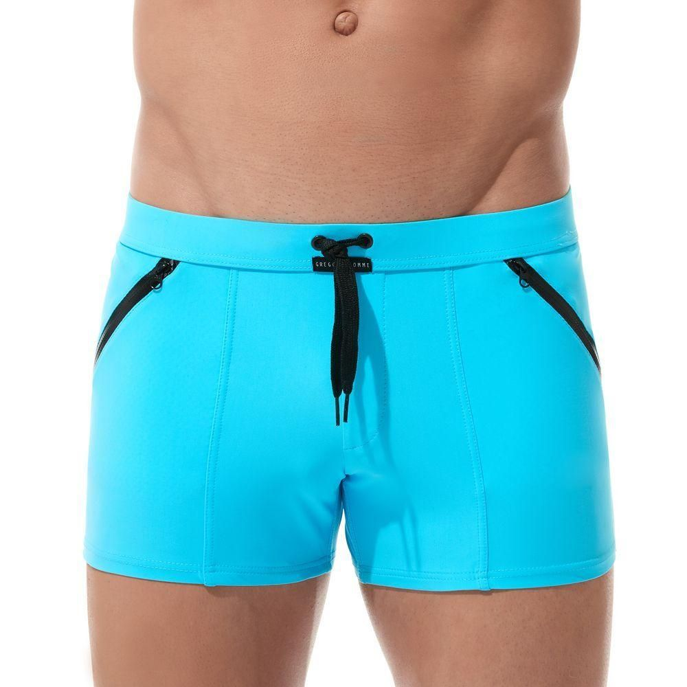 2a931a05c4 Gregg Homme Exotic Swim Boxer Brief Eye catching vivid color mixed with  working zippers and drawstring give the Exotic Boxer Brief it's one of a  kind look.