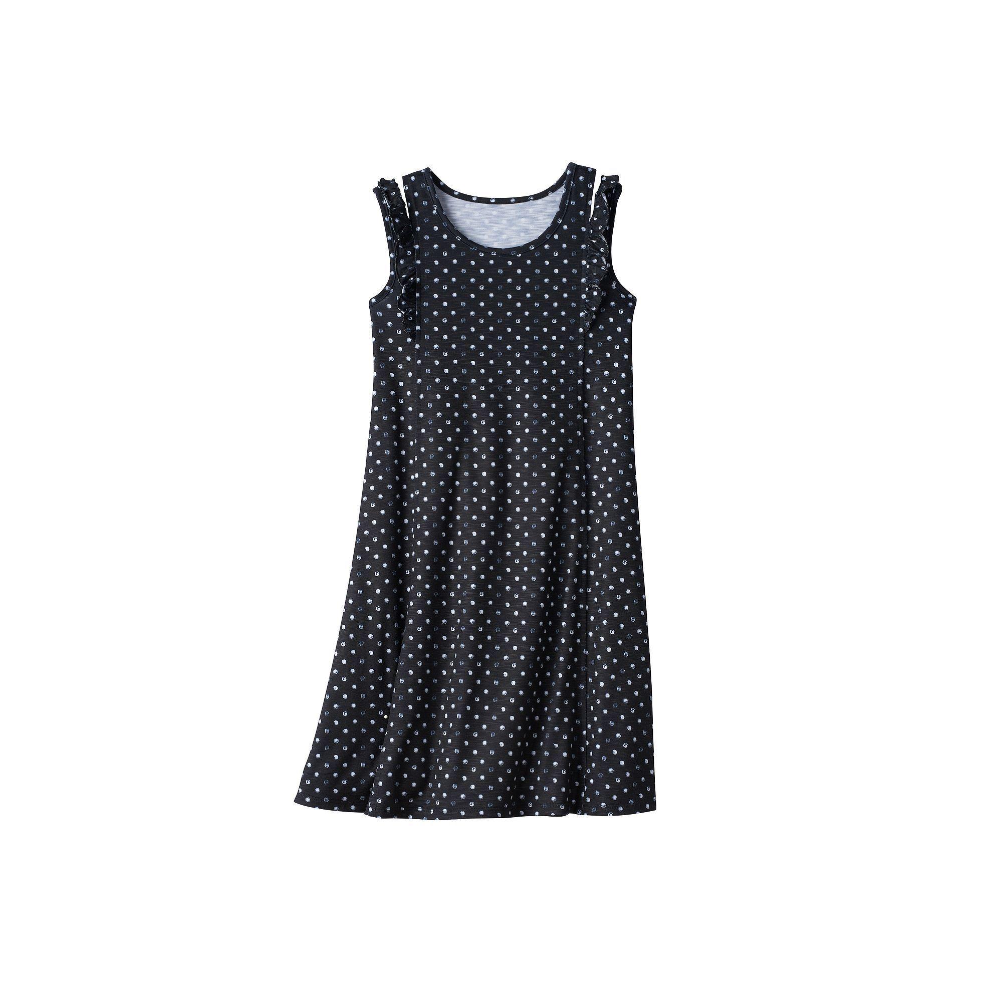 Girls u plus size sopatterned ruffle shoulder knit dress