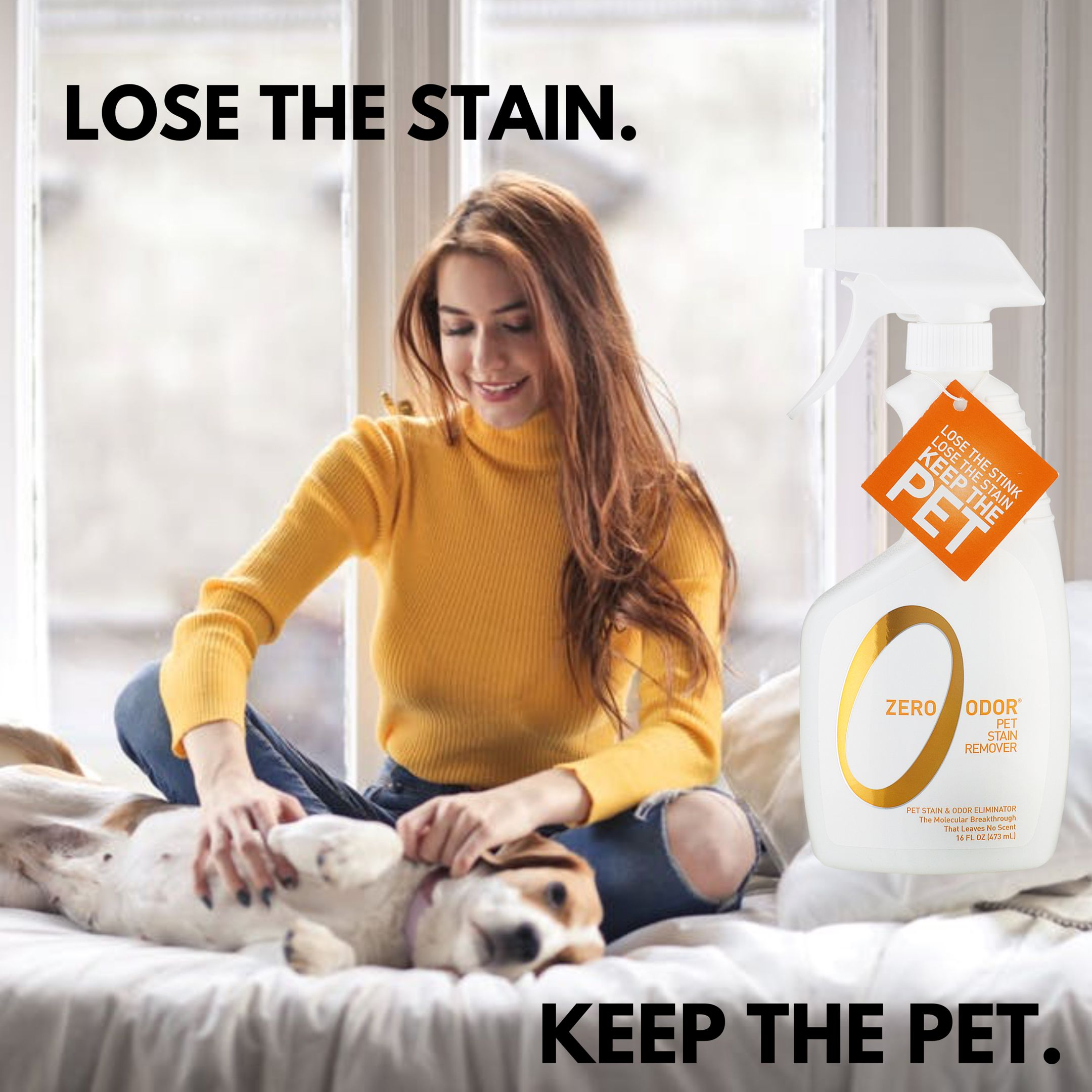 Everyone's Happy After Using Zero Odor® Pet Stain Remover