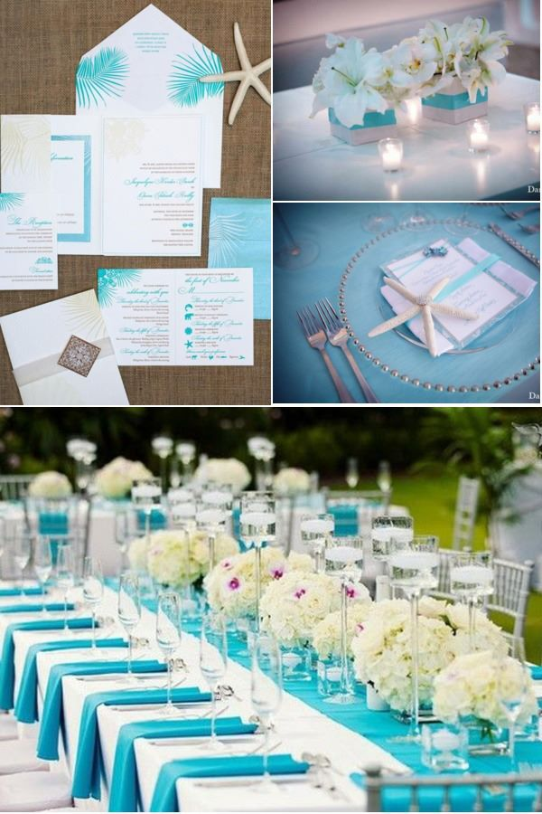 Tiffany And White Wedding Reception Centerpieces Decor I Think With Kisses Of Blue