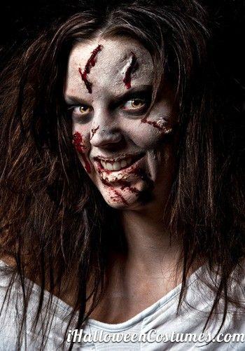 woman in zombie makeup - Halloween Costumes 2013 Halloween - zombie halloween ideas