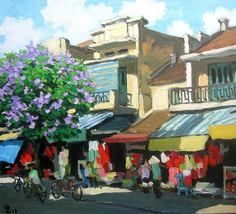 Hang Dao Street, 24x36 Vietnamese actual hand painted commission oil painting -  $139.00.  http://www.bonanza.com/listings/Hang-Dao-Street-24x36-Vietnamese-actual-hand-painted-origin/36718435