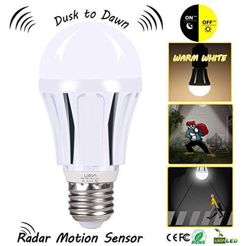 Dusk To Dawn Led Motion Sensor Light Bulb 100 Watt Equivalent 9w A19 E26 Radar Led Sensor Night Light Soft Motion Sensor Lights Sensor Night Lights Led Bulb