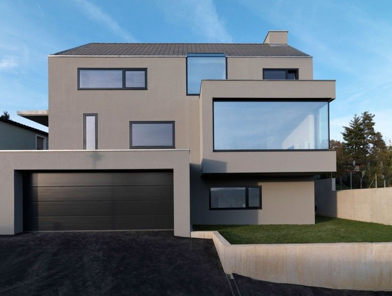 Moderne fenster fassade  Haus F by Ippolito Fleitz Group (1) | Houses | Pinterest | Aussen ...