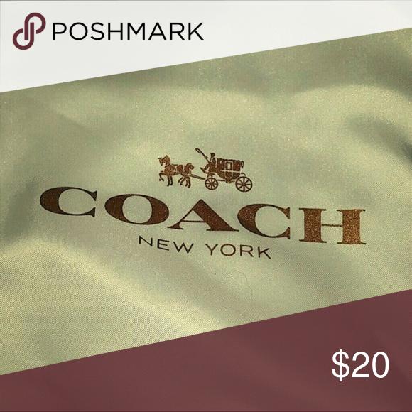 Authentic Coach Dust Bag Gold Coach Logo Coach Logo Dust Bag Coach