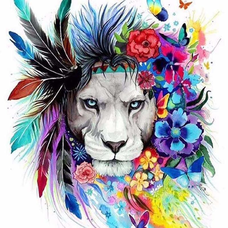 Tribal Lion Colouring Images