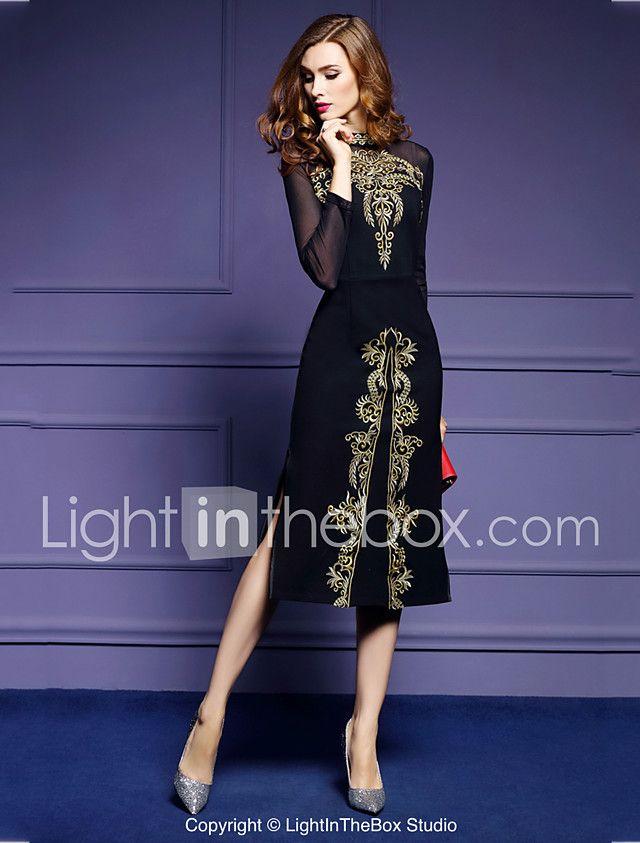 Feminino Tubinho Vestido,Para Noite Tamanhos Grandes Vintage ...