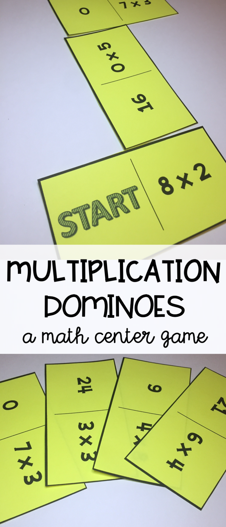 Multiplication math center - multiplication dominoes - a fun math ...