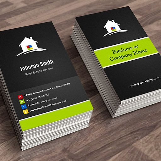 Real estate broker premium creative innovative business card customizable real estate broker premium creative innovative business card templates accmission Images