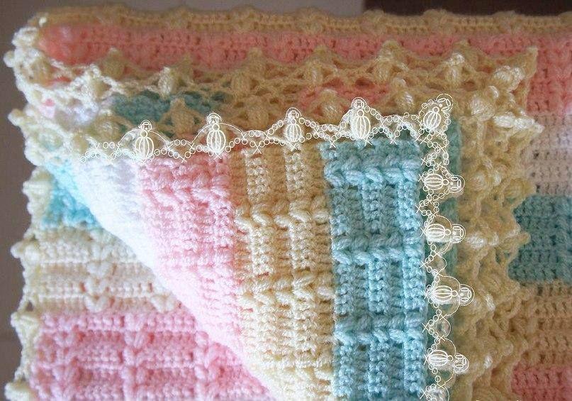 How to Crochet Baby Blanket - Point Wonderful - Video | Crochet Free ...