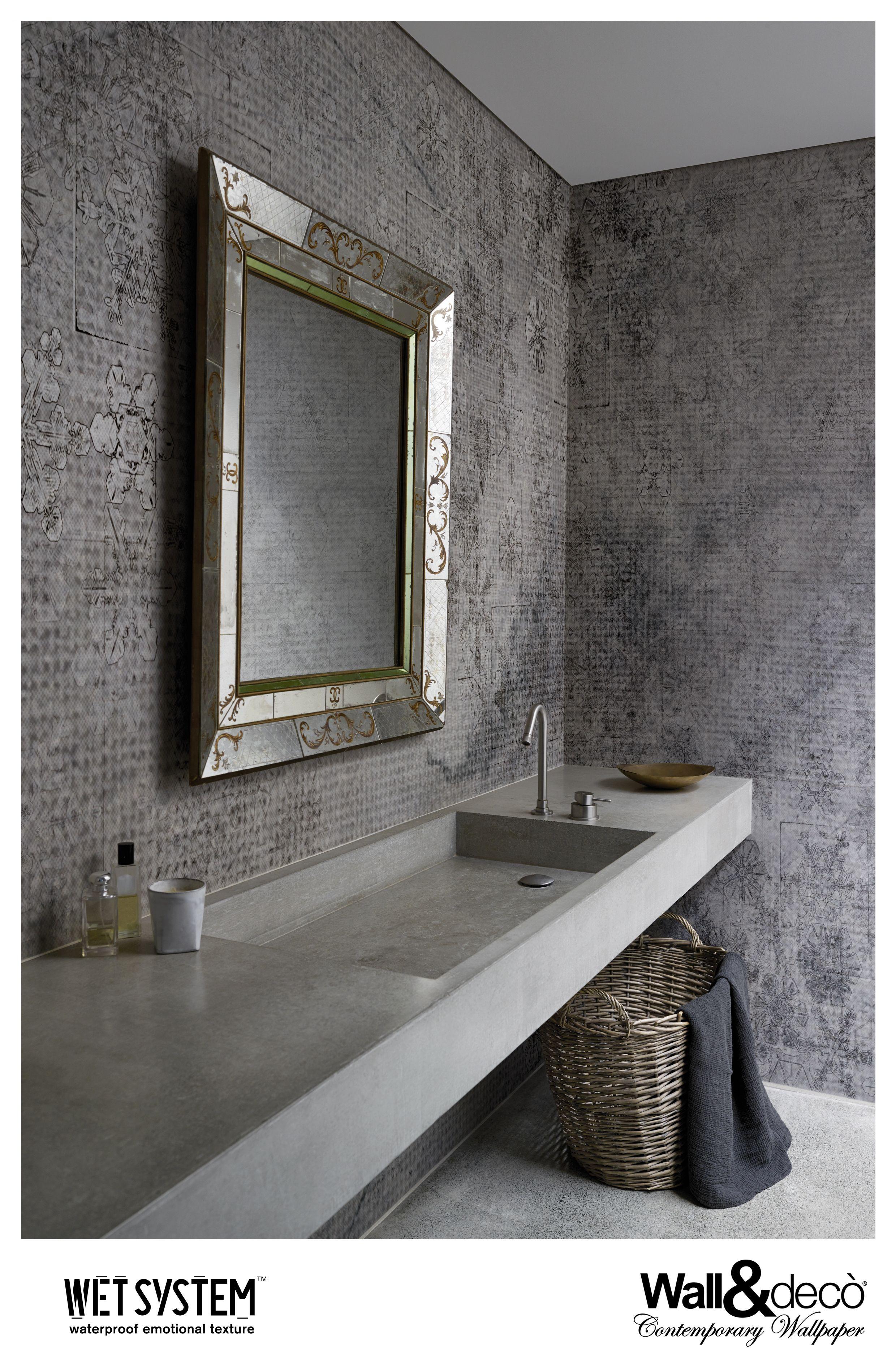 Crystal Water Www Wallanddeco Com Wallpaper Wallcovering Wetsystem Badezimmer Tapete Deko Wand Glas Badezimmer