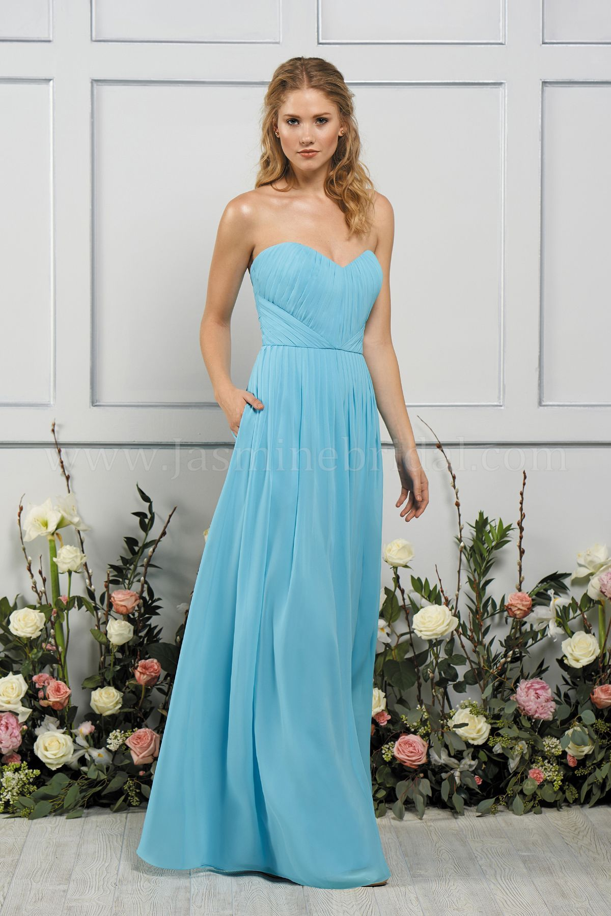 Jasmine bridal b2 style b193055 in bahama breeze poly chiffon discover the perfect bridesmaid dresses and formal gowns from jasmine bridal shop our dress line is a popular choice nationwide ombrellifo Gallery