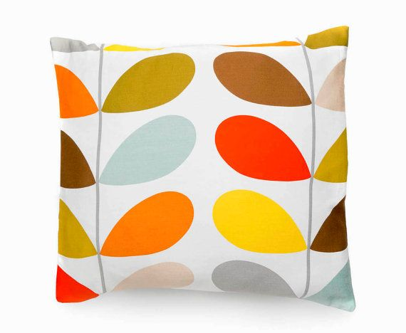 Decorative Pillow Cotton Cushion Cover Made With Orla Kiely Stem Unique Fabric For Decorative Pillows