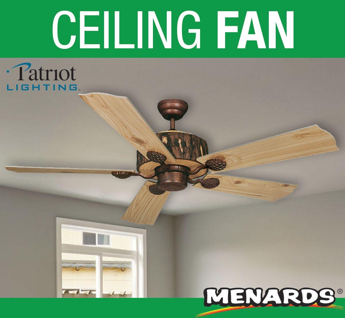 patriot lighting stump 52 ceiling fan
