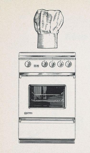 Anos 60 Concepto De Integracion Diseno En La Cocina Cocina Vintage Muebles De Cocina Y Cocinas