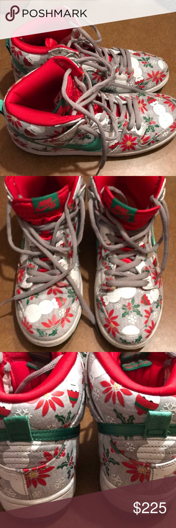 Nike SB Ugly Christmas Sweater Shoes with box. Perfect pair of Nike ...