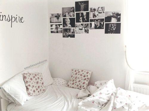 Quarto solteiro Preto e branco Quarto Decoração Preto  ~ Quarto Preto E Branco Tumblr